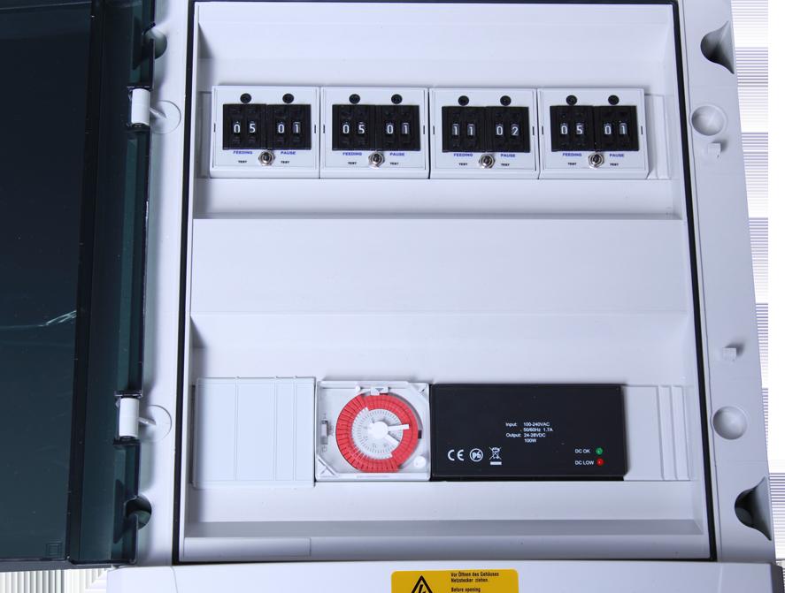 ffaz fischfutterautomat elektronische steuerung zk812 vier module
